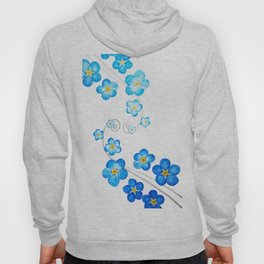 blue forget me not watercolor 2017 Hoody