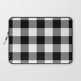 Black and White Buffalo Plaid Laptop Sleeve