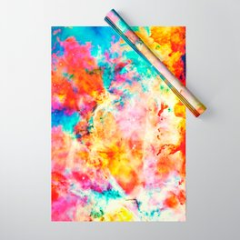 Colorful Abstract Nebula Wrapping Paper