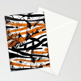 Floral Tiger Animal Print Stationery Cards