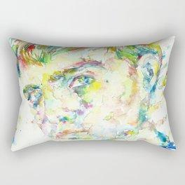 TRUMAN CAPOTE - watercolor portrait Rectangular Pillow