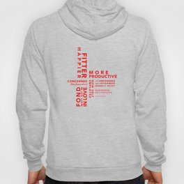 Fitter Happier (red type) Hoody