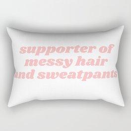 supporter of messy hair Rectangular Pillow