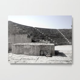 Ancient Greek Theatre Travel Photograph Metal Print