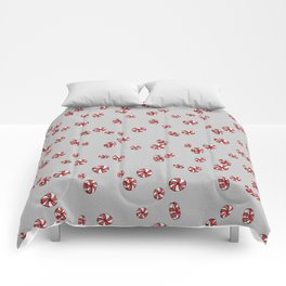 Peppermint Candy in Grey Comforters