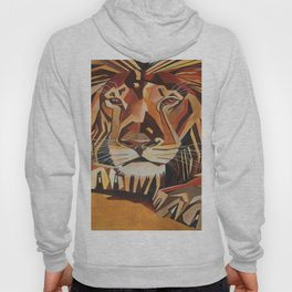 Lion Vector In Cubist Style Hoody