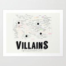 Villains of Gotham Art Print