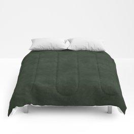 Dark green distressed vintage antique exclusive look solid color Comforters