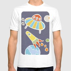 space flying Mens Fitted Tee White MEDIUM