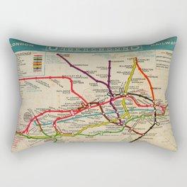 London Undergroud Map 1910 Rectangular Pillow