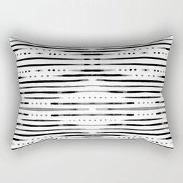 B&W Shibori Rectangular Pillow