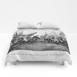 The Surrender Of Cornwallis At Yorktown Comforters