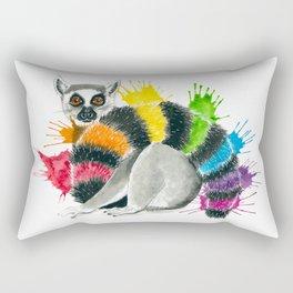 Rainbow Lemur Rectangular Pillow