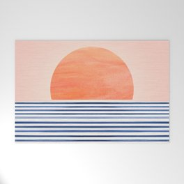 Summer Sunrise - Minimal Abstract Welcome Mat