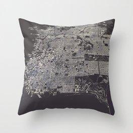 San Francisco City Map Throw Pillow