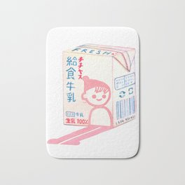 School Lunch Milk Bath Mat