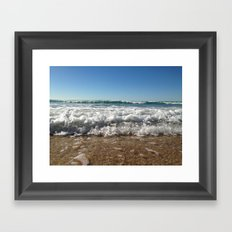 Sea Foam Framed Art Print