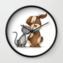 Purrfect Love Wall Clock