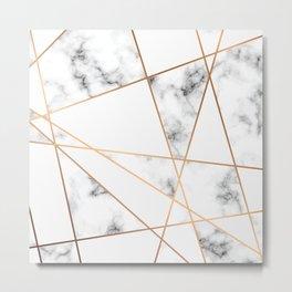 Marble Geometry 054 Metal Print