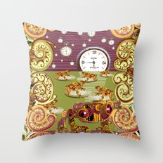 Freddie Croaker and the Clockworks Moonlight Sonata. Throw Pillow