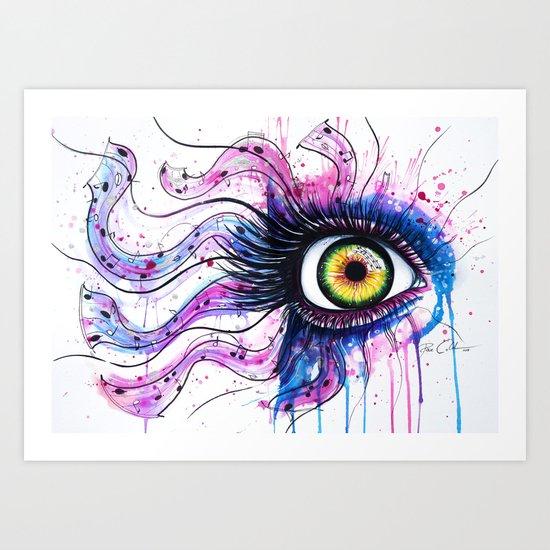 """The crazy componist"" Art Print"