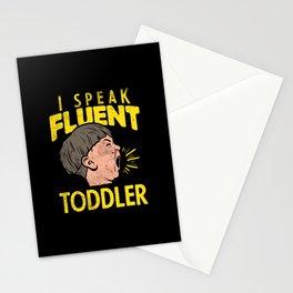 I Speak Fluent Toddler Stationery Cards