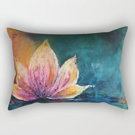 The Lotus House of Love, Peace & Migration Rectangular Pillow