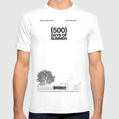 (500) Days of Summer MEDIUM Mens Fitted Tee White