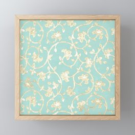 Baroque Damask Framed Mini Art Print