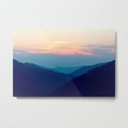 Sunset over the Great Smoky Mountains (Tennessee, USA) Metal Print
