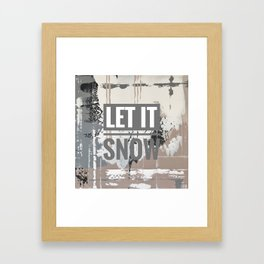 Snowfall - let it snow Framed Art Print