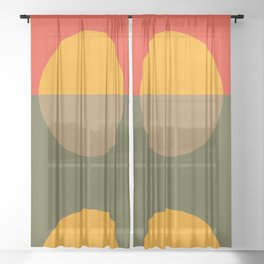 Spring- Pantone Warm color Sheer Curtain