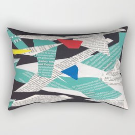 Collage abstract multicolor 3334 Rectangular Pillow