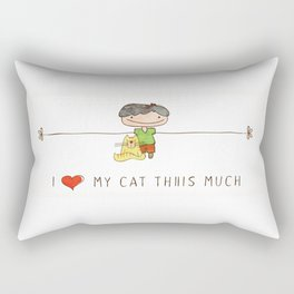 I love my cat boy Rectangular Pillow