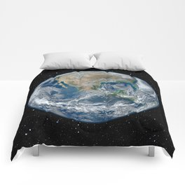 EARTH FROM SPACE Comforters