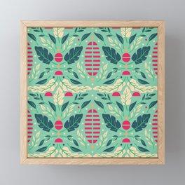 Vintage Floral Pattern 004 Framed Mini Art Print