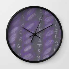 Word Play Wall Clock