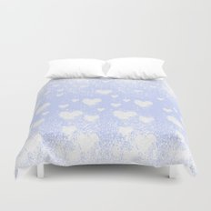 snowing hearts Duvet Cover