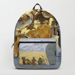Frederic Remington - The Emigrants - Digital Remastered Edition Backpack