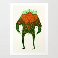 Yello Warrior Art Print