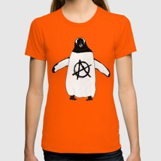 Anarchy in the Antarctic Womens Fitted Tee Orange MEDIUM