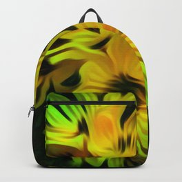 Abstract Yellow Flower Image Backpack
