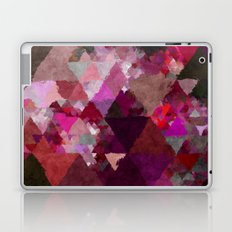 When the night comes- Dark red purple triangle pattern- Watercolor Illustration Laptop & iPad Skin