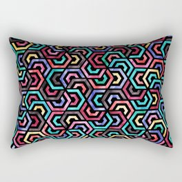 Seamless Colorful Geometric Pattern XXV Rectangular Pillow