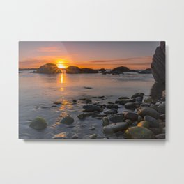 On the beach at nightfall Metal Print
