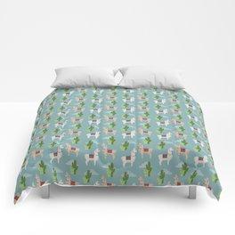 Cute Llamas Illustration Comforters