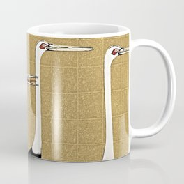Japanese Bird Landscape Minimalism Coffee Mug