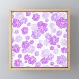 Lavender Blossoms Framed Mini Art Print