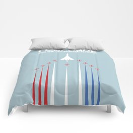 Concorde And The Red Arrows Flyover Comforters