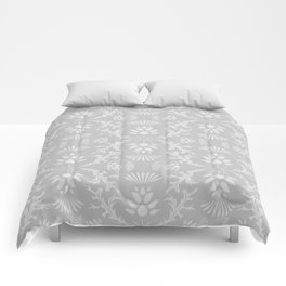 Thistles on Grey Comforters